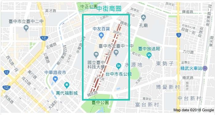 台中一中商圈地圖